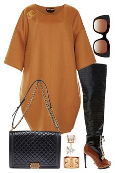"""""""Morning Slay"""" by fashionkill21 ❤ liked on Polyvore featuring Rodarte, Rochas, Chanel, Thierry Lasry, Allurez and Hermès"""