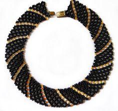 Free pattern for beaded necklace Katrina | Beads Magic #Seed #Bead #Tutorials