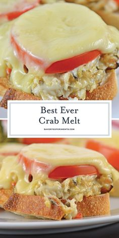 This Crab Melt will become your favorite open faced sandwich recipe! Deliciously cheesy and easy to make!savoryexperim… This Crab Melt will become your favorite open faced sandwich recipe! Deliciously cheesy and easy to make! Crab Sandwich, Sandwich Recipes, Crab Salad Sandwich Recipe, Crab Burger, Sandwich Melts, Gourmet Sandwiches, Cake Recipes, Crab Melt, Crab Dishes