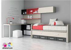 Habitación Infantil: Dormitorio Infantil con cama nido | Dormitorio Infantilcon cama nido. Los elementos que integran la presente composición s