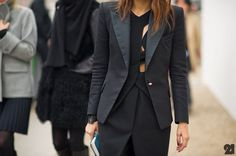 the blazer is a perfect touch for the dress, keep it warn and not overly sexy!