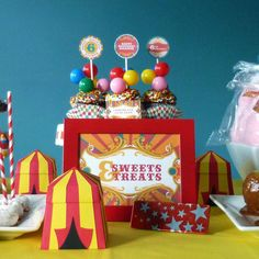 Vintage Carnival Circus  {Inspiration} Birthday Party | CatchMyParty.com