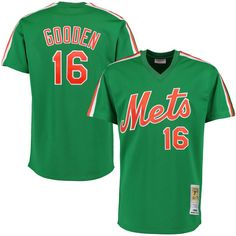 Dwight Gooden 1985 New York Mets Mitchell   Ness Authentic Throwback Jersey  - Kelly Green 851c02924c66