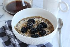 Toasted coconut and berries breakfast quinoa