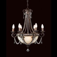 Traditionally styled, this suspension mounted chandelier features an antique bronze finish. The regal luminary uses an SES bulb to offer a bright glow of light. It is suitable for living room lighting requirements. French Chandelier, Art Deco Chandelier, Antique Chandelier, Art Deco Lighting, Chandelier Lighting, Bordeaux, Restoration Hardware Furniture, Contemporary Chandelier, Chandeliers Modern