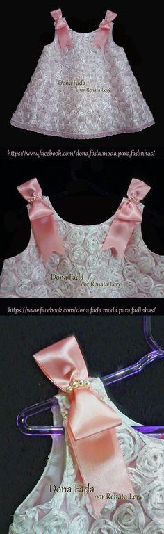 Vestido Branco Rococó - 18 meses - - - - - baby - infant - toddler - kids - clothes for girls - - - https://www.facebook.com/dona.fada.moda.para.fadinhas/