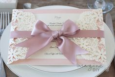 wedding idea. Make your own wedding menu with laser cut wedding stationer supplies