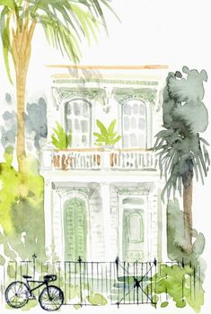 Watercolour Painting, Painting & Drawing, Watercolors, Watercolor Landscape, Painting Inspiration, Art Inspo, Art Plastique, Diy Art, Art Projects