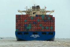 Container nach Hamburg