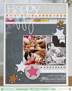 Shape Up Your Scrapbooking : Happy Happy - Two Peas in a Bucket