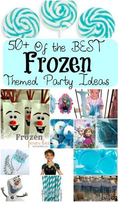 The BEST round up of FROZEN themed party ideas! We're talking costumes, foods, party favors, free printables, games and activities!