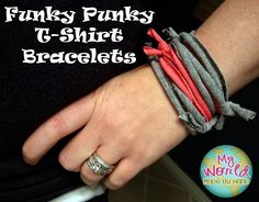 t-shirt bracelets.  Maybe add some charms?