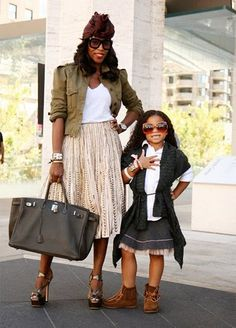 June Ambrose Daily.  June and her daughter.  I love her style.