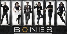 Bones TV Show. From right to left, Hodgens, Angela, Booth, Bones, Zach, and Cam. Why did you have to be evil Zach??? You were my favorite one!!!