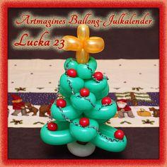 Artmagines Ballong-Julkalender Lucka 23: Julgranen får komma fram till julafton, och våran är gjord av ballonger. Vi gör en ny ballong-kreation varje dag fram till jul!