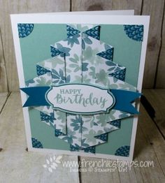 Double Pleated Fold Video | Stamp & Scrap with Frenchie | Bloglovin'