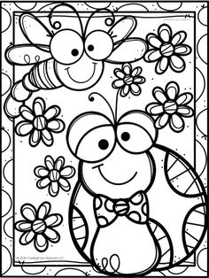 Unique Coloring Pages, Free Adult Coloring Pages, Animal Coloring Pages, Coloring Book Pages, Coloring Sheets For Kids, Kids Coloring, Merian, Happy Paintings, Scrapbook Paper Crafts