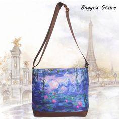 Claude Monet Japanese Bridge Laptop Messenger Bag Impressionist