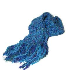 Blue Lagoon Hand Knit Scarf