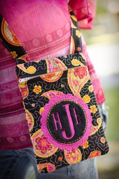 Instant Download MONOGRAMMED In-the-hoop QUILTED by lannahdesigns