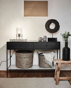 Home And Living, Living Room, Hallway Storage, Entry Hall, Indoor Outdoor Living, Hallway Decorating, Bedroom Apartment, Entryway Tables, Entryway Ideas