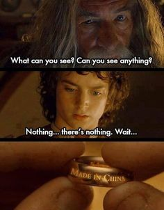 Lord of the Rings jokes (memes) ✓ - Made in China Cute Jokes, Stupid Funny Memes, Funny Asian Jokes, Funny Chinese Memes, Chinese Humor, Asian Humor, Dessin Game Of Thrones, O Hobbit, Memes Br