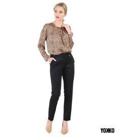 #yokko #animalprint #qualityfashion #madeinromania #buyonline #elegance Look Chic, Casual Looks, Capri Pants, Casual Outfits, Costume, Elegant, How To Make, Style, Fashion