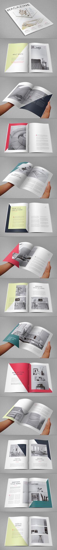 Minimal Clean Magazine. Download here: http://graphicriver.net/item/minimal-clean-magazine/11511967?ref=abradesign #magazine #design