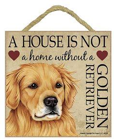 Golden Retriever Wooden Plaque