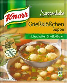 Knorr Suppenliebe Kaiser Teller, 15 x 3 Teller x 750 ml) Teller, Cheeseburger Chowder, Soup, Plates, Chicken, Meat, Vegetables, Breakfast, German Recipes