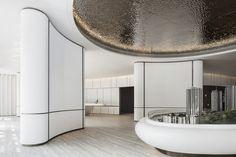 深圳31设计 Lobby Interior, Best Interior, Interior Architecture, Ceiling Design, Wall Design, Circular Buildings, Office Ceiling, Lobby Design, Minimalist Apartment