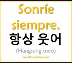 Resultado de imagen para palabras en coreano Korean Words Learning, Korean Language Learning, Learn A New Language, Korean Phrases, Korean Quotes, How To Speak Korean, Learn Korean, Learn Hangul, Korean Writing