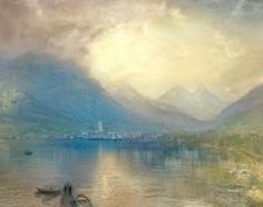 Joseph Mallord William Turner - Arth on the Lake of Zug, Early Moning. Sample Study, 1843