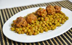Sapori in Zona: Polpette con piselli (4 blocchi) Dog Food Recipes, Healthy Recipes, Zone Diet, Chana Masala, Vegetables, Ethnic Recipes, Diets, Carne, Cooking