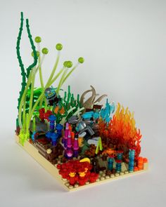 https://flic.kr/p/nhyDEy   Coral reef   A model built for The LEGO Play Book.