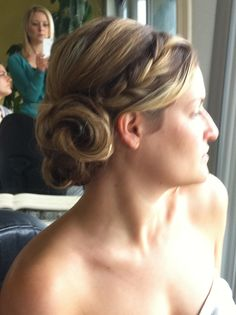 braid updo by Kimberly Valosen