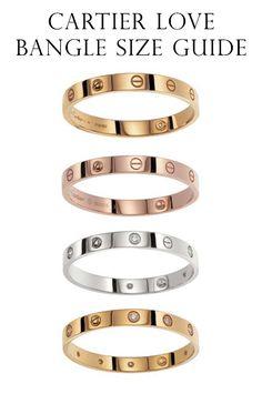 Cartier Love Bracelet Sizes