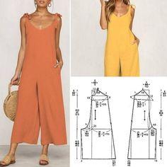 Best 12 Corte e costura – SkillOfKing. Dress Sewing Patterns, Sewing Patterns Free, Clothing Patterns, Linen Dress Pattern, Fabric Sewing, Skirt Patterns, Blouse Patterns, Fashion Sewing, Diy Fashion
