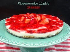 Cheesecake light de morangos