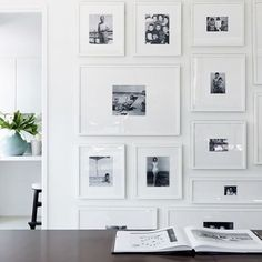A family tree with a difference! Some photo wall inspo for your Friday afternoon #picturepostie #familyhistory #wallart Pic via natalie-warady.squarespace.com/