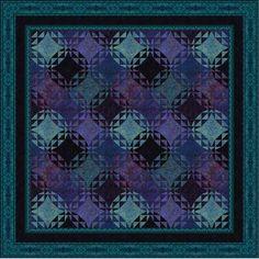 RJR Fabrics Jinny Beyer Malam Batiks Frost Quilt Kit 91 x 91