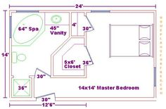 14x16 Master Bedroom Layout