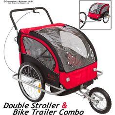 Double Stroller & Kids Bike Trailer