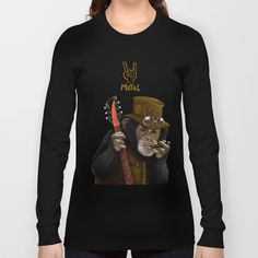 Rockers of the apes  LONG SLEEVE T-SHIRT@pointsalestore #society6 #longsleeve #tee #tshirt #clothing #animal #ape #chimpanzee #monkeyking #caesar #planetoftheapes #riseoftheplanetoftheapes #dawnoftheplanetoftheapes #waroftheplanetoftheapes #gorilas #zoo #photographer #funny #geek #nerd #parody #animals #monkey #camera #rockstar #classic #band #music