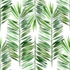 The Watercolor Palm Tree Leaf Pattern wallpaper mural will add a fun pop of design to your walls. This wallpaper mural will give an on-trend look by transforming your space into a tropical haven with large watercolor green palm fronds. Palm Tree Leaves, Palm Trees, Palm Tree Print, Painting Frames, Painting Prints, Murals Your Way, Tree Wall Murals, Tree Wallpaper, Wallpaper Toilet