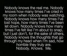 nobody knos