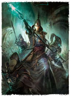 The art of Warhammer 40.000 - eldar farseer and warlocks