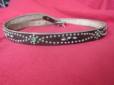 Handmade studded, jeweled, rockabilly, western, motorcycle belt by Legendaryvintage on Etsy https://www.etsy.com/listing/185767986/handmade-studded-jeweled-rockabilly