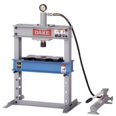 Dake Model Manual Utility Hydraulic Bench Press, 10 Ton Capacity, Length x Width x Height Shop Press, Best Portable Air Compressor, Adjustable Height Table, Metal Bending, Maker Shop, Weight Benches, Metal Tools, Kitchen Cabinets In Bathroom, Homemade Tools