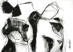 'Blodwyn' Open Edition Print by Valerie Davide' £35 mounted £80 Framed (Obeche Limed Wax or Matte Black Finish)